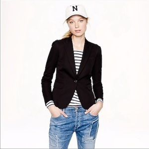 J. Crew Classic Wool Shawl Collar Blazer in Black